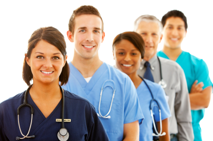 Stock Photo - Physicians in a line